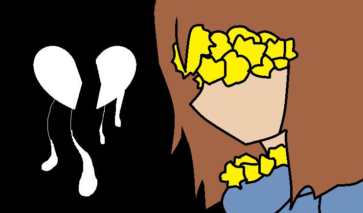 Flowerfell (FRISK) Heart Broken //// by Eddy1oo