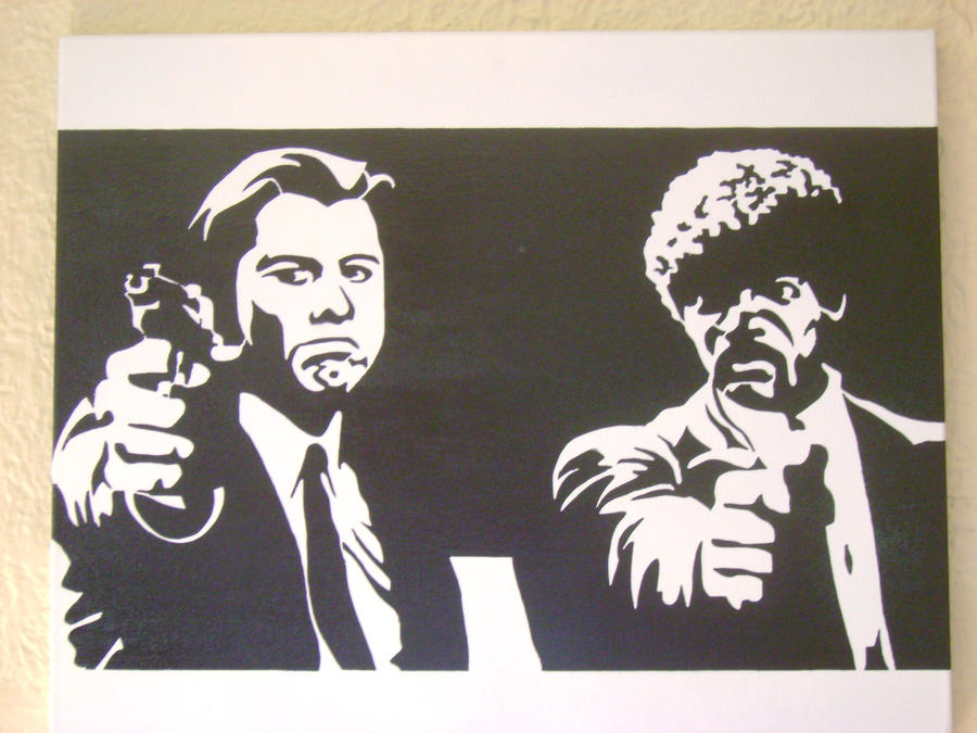 Pulp Fiction by dlanglee on pulp fiction stencil