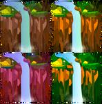 Vector Waterfalls