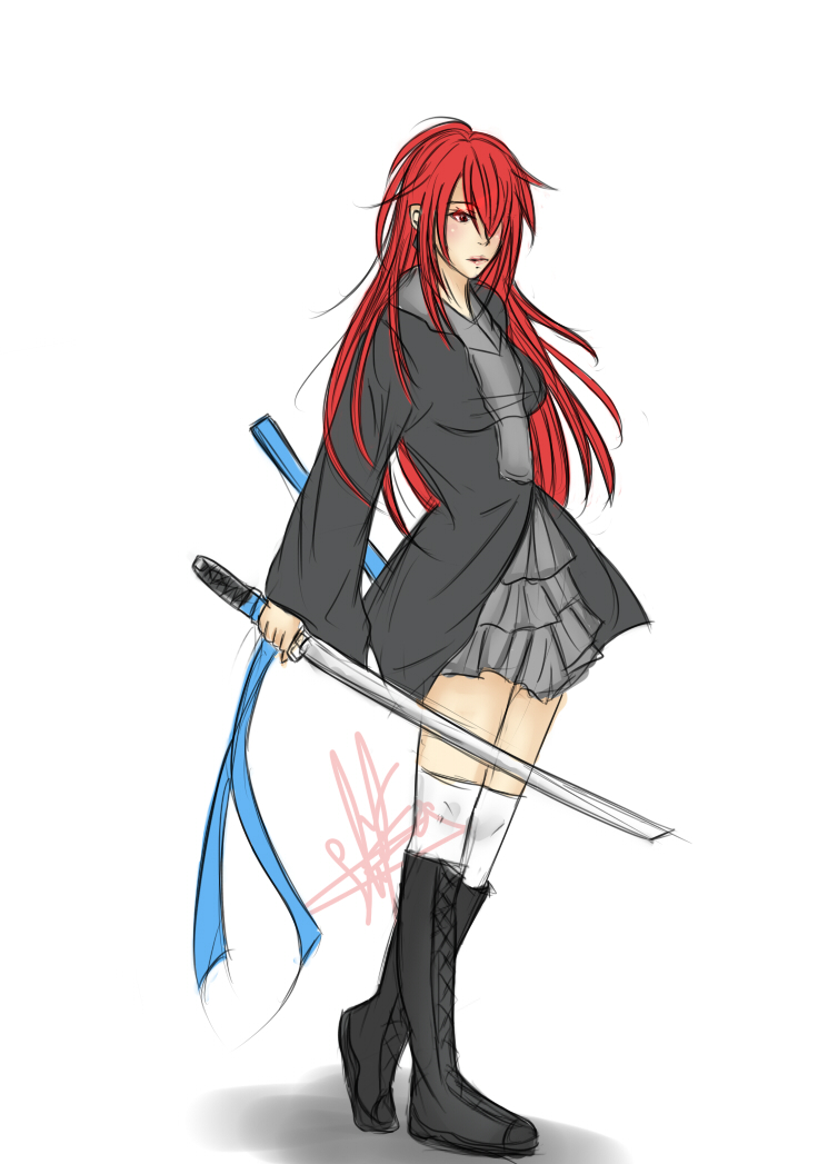 Anime Characters Red Hair : Anime girl red hair character by chii ch n on deviantart
