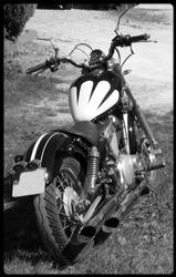 Black And White Bike by coyotte33