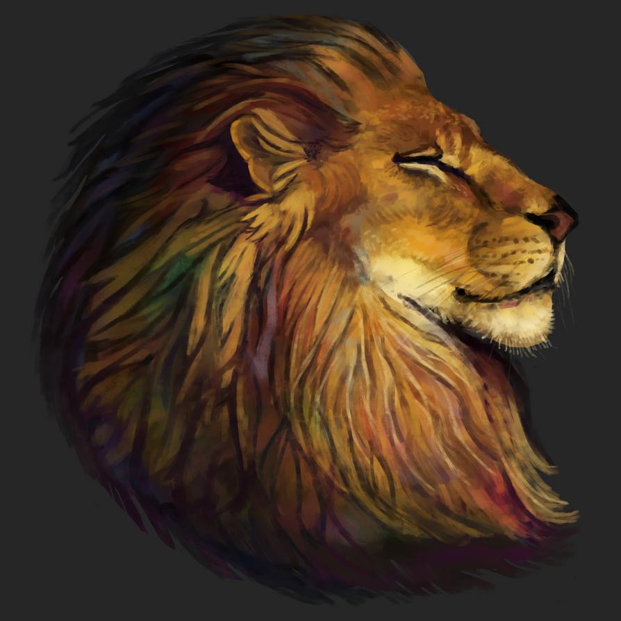 Lion Portrait by Noctualis