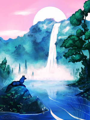 waterfall by Noctualis
