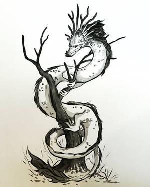 inktober - dragon by Noctualis