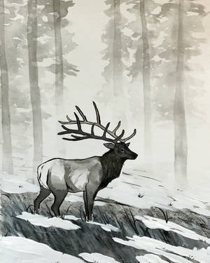 inktober - elk by Noctualis