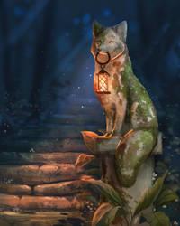 June Fox a Day - Mossy Fox