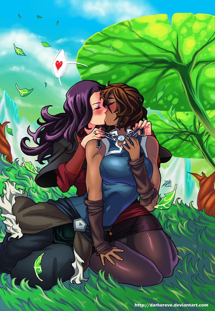 Korrasami Valentine by DarkerEve