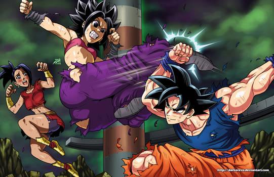 Caulifla vs Goku