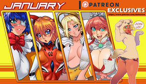 Patreon Exclusives - January 2018 by DarkerEve