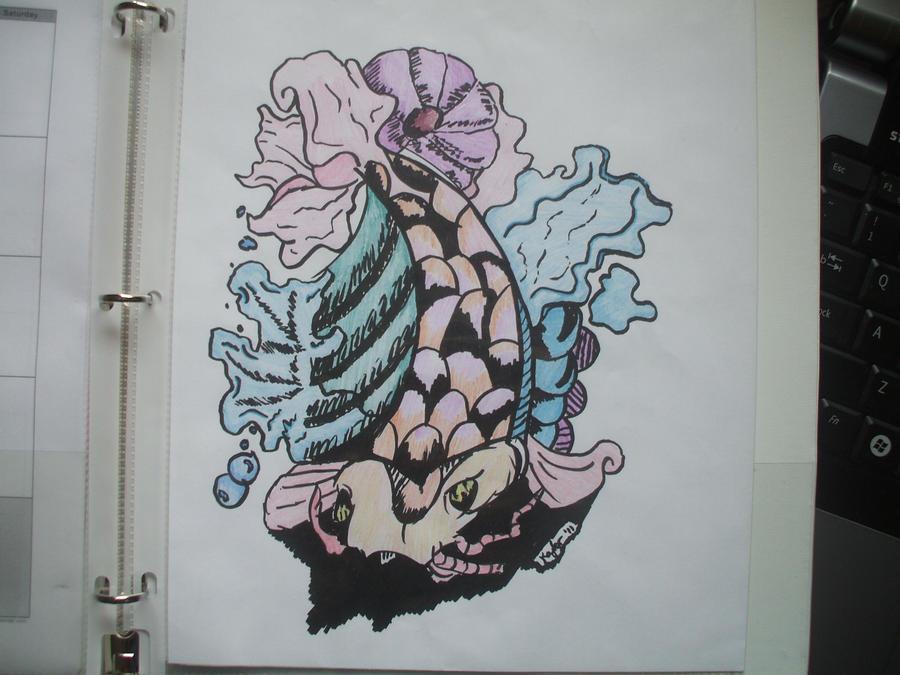 Japanese Fish Drawing Color Japanese Koi Fish Drawing by