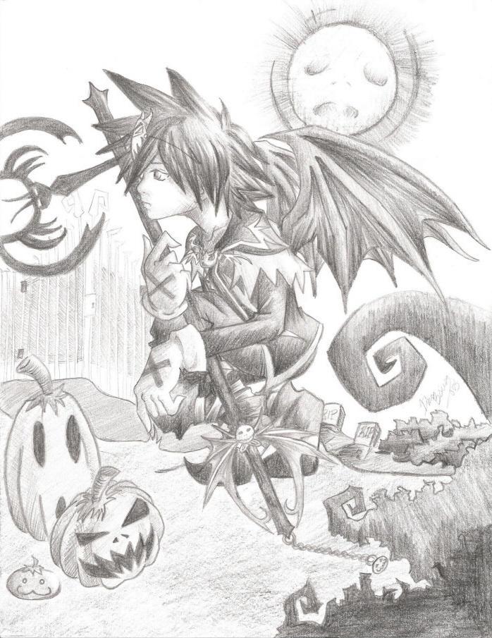 Bent Halloween by SkeletalWings