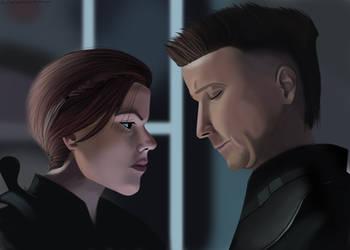 Endgame Black Widow Hawkeye by MirrorandImage