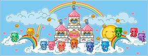 Care Bear Pixel by MangledButterfly