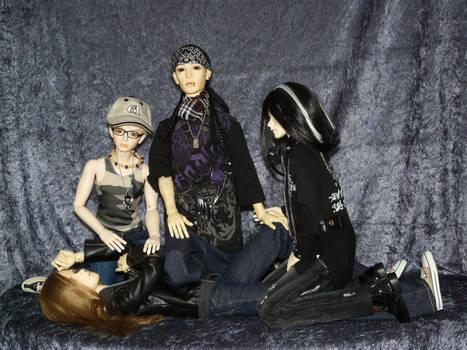 Tokio Hotel playin' around