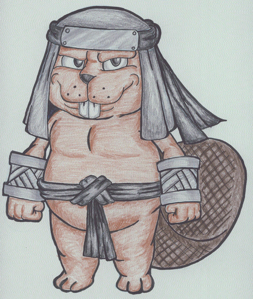 Ninja Beaver 2.0 by KingMonster