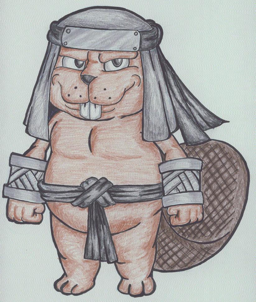 Ninja Beaver 2.0 by KingMonster