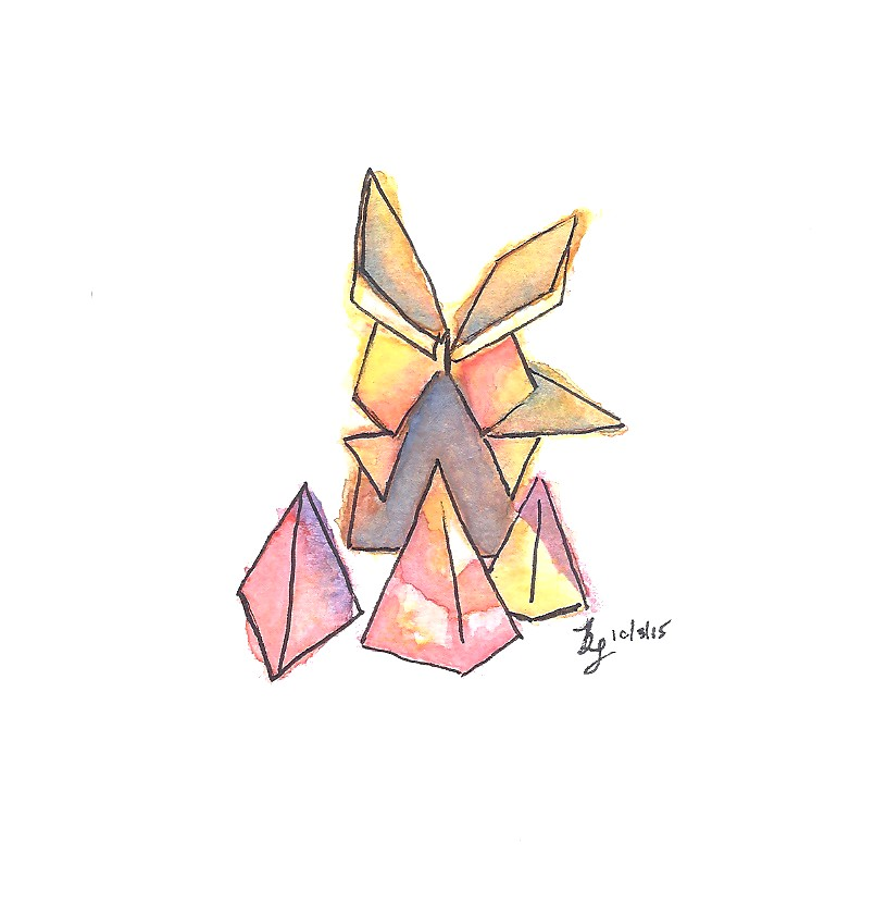 Inktober 1 - Origami Rabbit by Name-of-a-Rose