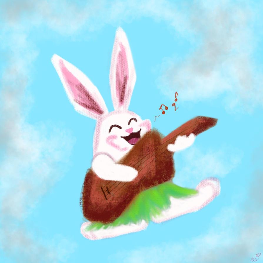 Ukulele Bunny by Name-of-a-Rose