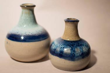 Blue Bud Vases by LouiseBahia