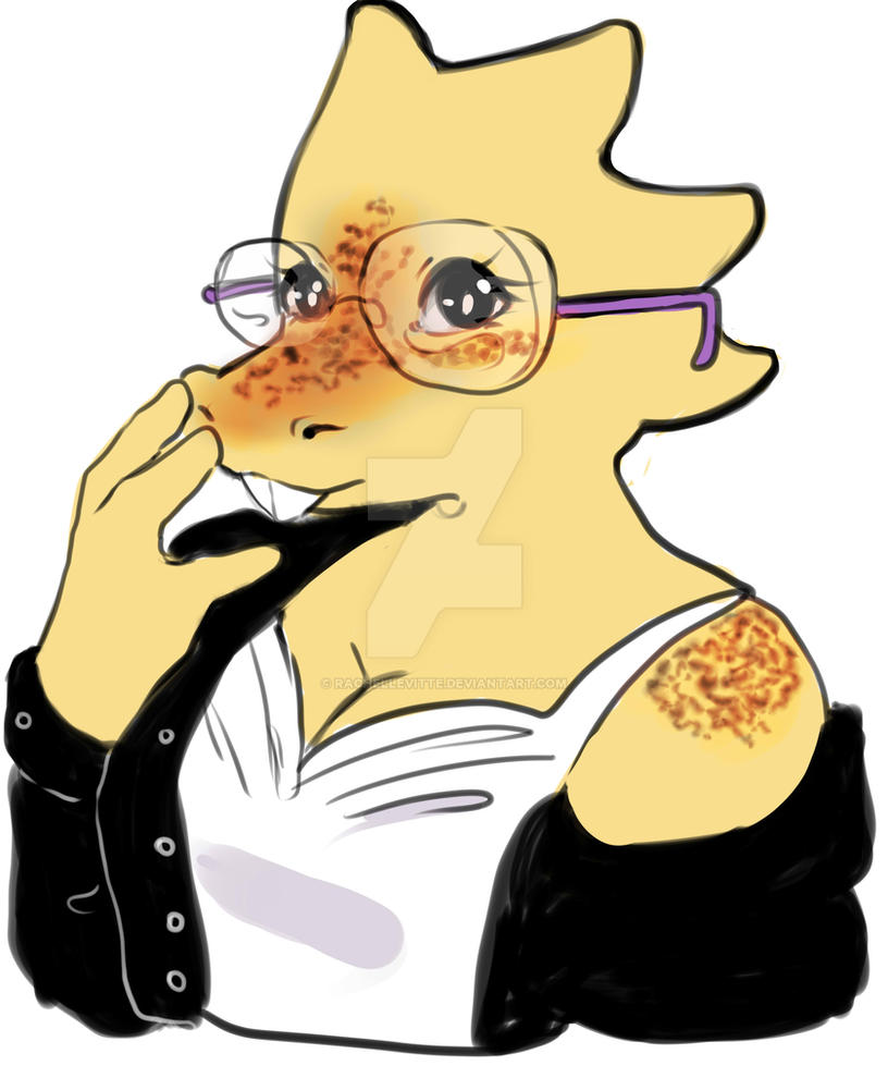 Cute Alphys by RachelLevitte