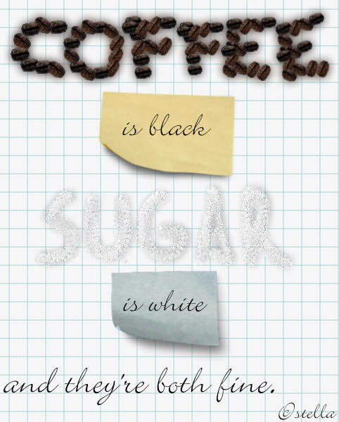 Coffee and Sugar by Anti-Nazi