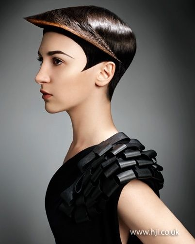 Female Model With Dystopian Haircut