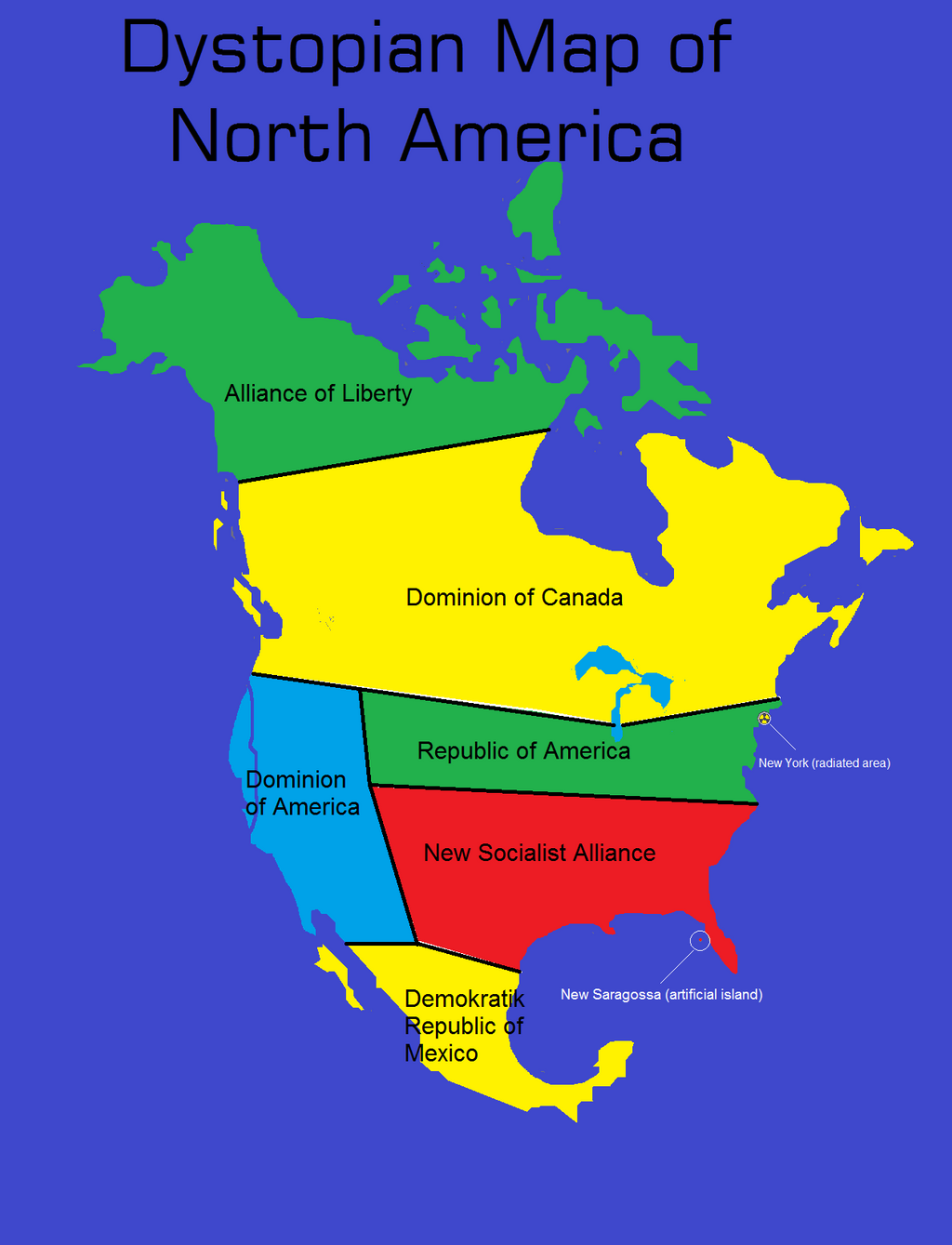 Dystopian Map North America By Tom On DeviantArt - Future map of north america