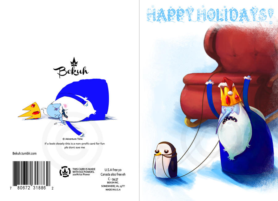 Ice King Holiday Card by Bekuhz