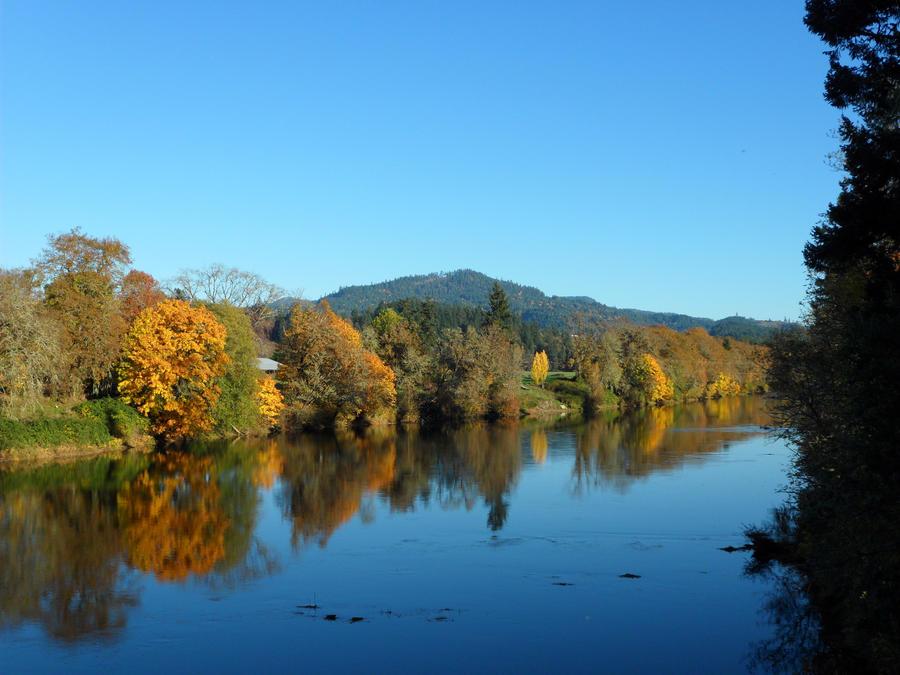 Autumn River by cloudwatcherakira