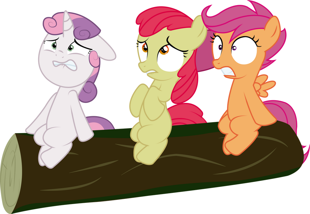 Cutie Mark Crusaders scared vector by Spectty