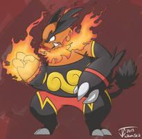 Fire Boar by whmSeik