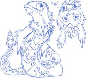 Potoo Cockatrice Sketch