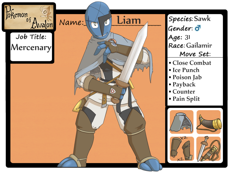 Pokemon of Avalon - Liam by whmSeik