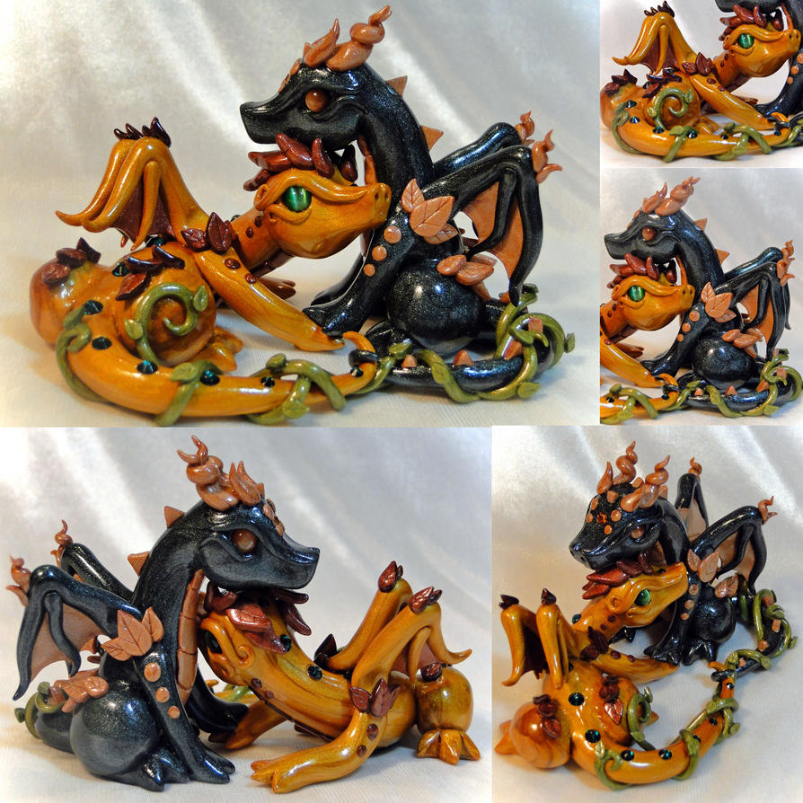 Wedding Cake Topper Fall Dragons By Shemychan