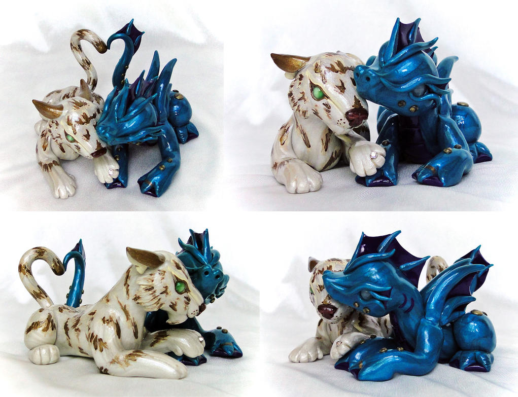 Wedding Cake Topper: Albino Tiger and Water Dragon by Shemychan on ...