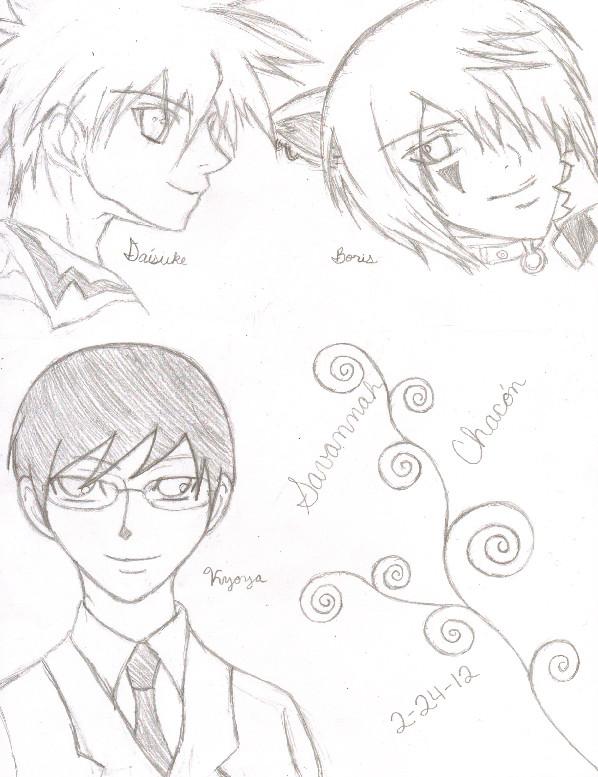 Daisuke, Boris, Kyoya by takihiromisaki123