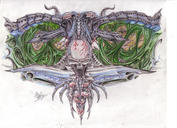 SoulerpleX - chest tattoo