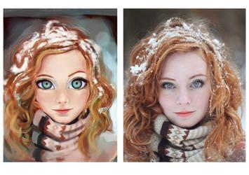 Snow Girl - study by MZ09