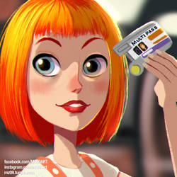 Leeloo Dallas - M-U-L-T-P-A-S-S by MZ09