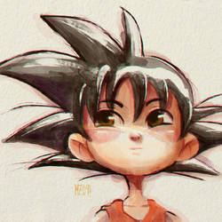 Goku - Digital Watercolor by MZ09