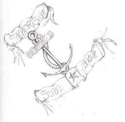 Sink or swim tattoo design, I guess by KatM13