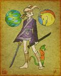 Ninja Bunny - Colored