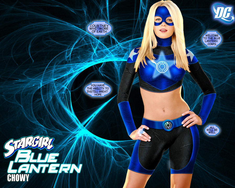 Blue Lantern Star Girl by chowyspizz
