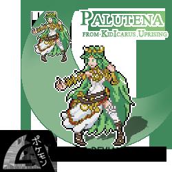 Palutena Sprite - Kid Icarus Uprising by Shutwig