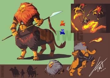 TLoZ - Guardians of Death Mountain, Lynel by Shutwig