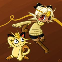 052 Meowth by PowderRune