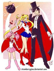 Sailor Senshi - Moon group by strawberrygina