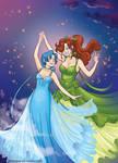 Sailor Mercury x Sailor Jupiter dance