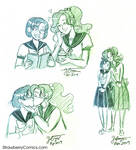 Mercury x Jupiter love sketches