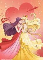 Sailor Mars x Sailor Venus dance by strawberrygina